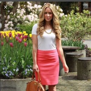 J Crew • The Perfect Pencil Skirt in Berry